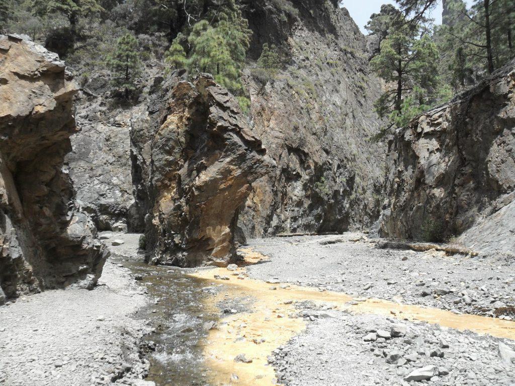 Weg zur Cascada Colores auf La Palma