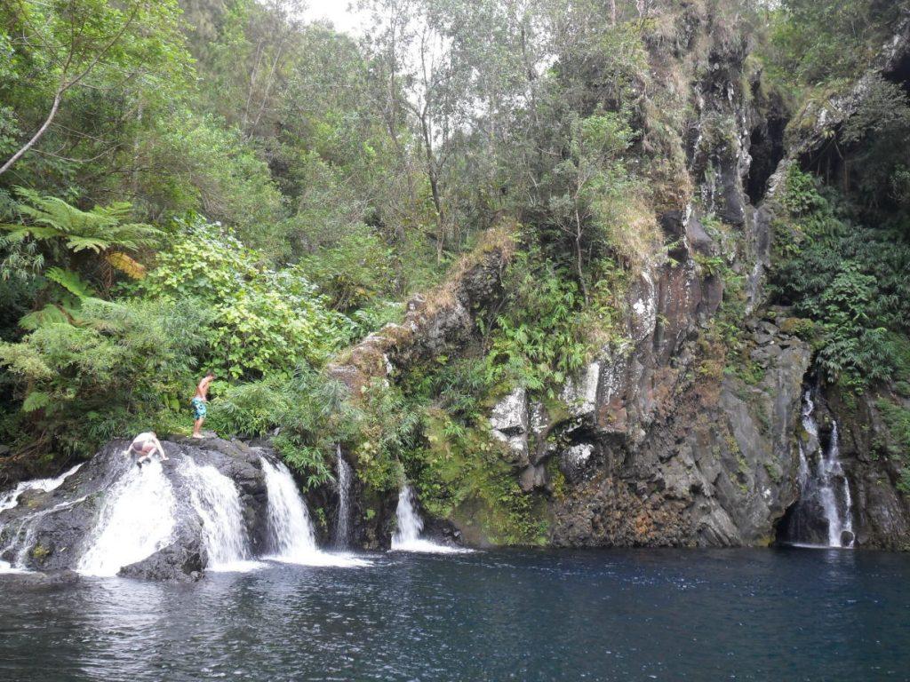 Cascade Trou Noir auf der Insel Réunion