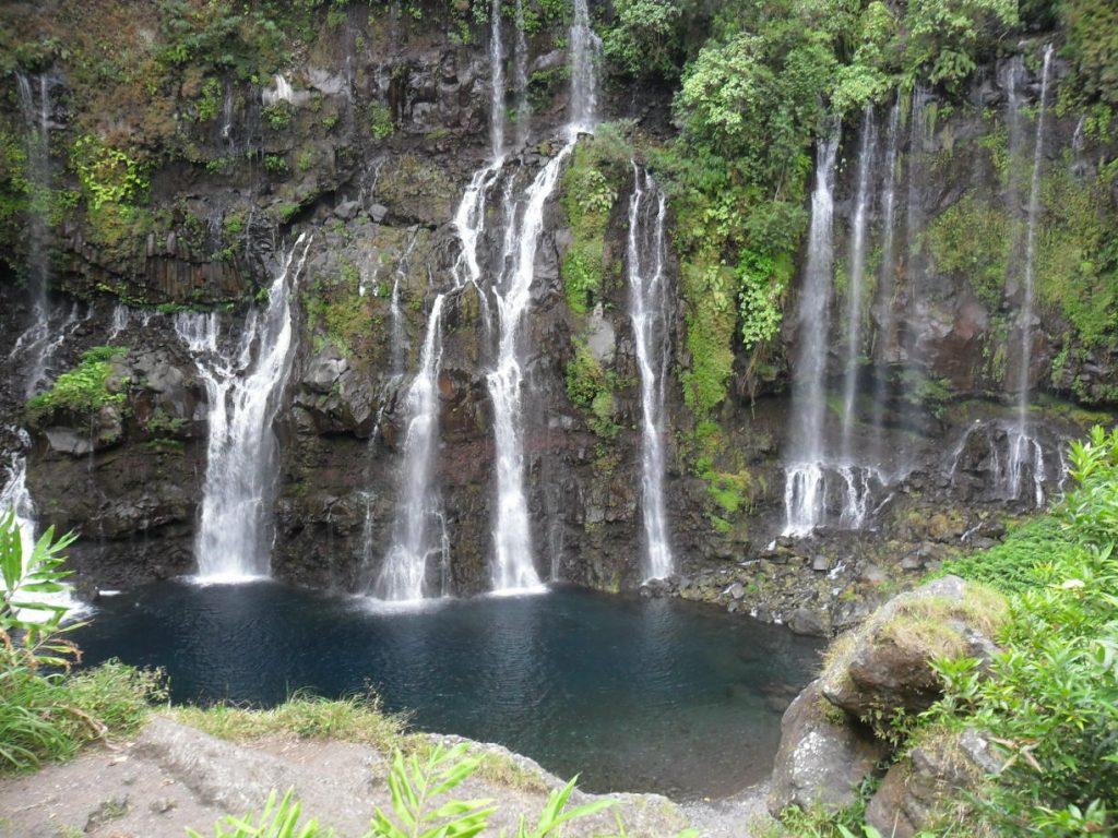 Cascade de Grand Galet auf der Insel Réunion