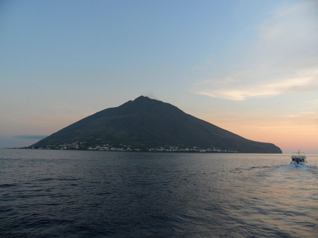 Vulkan-Insel Stromboli Italien