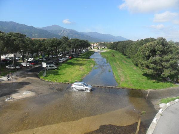 Argelès-sur-Mer nach viel Regen