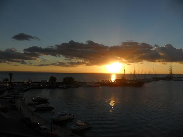 Sonnenufgang in Zakynthos-Stadt
