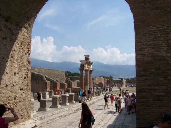Ausgrabungen von Pompeji, Italien