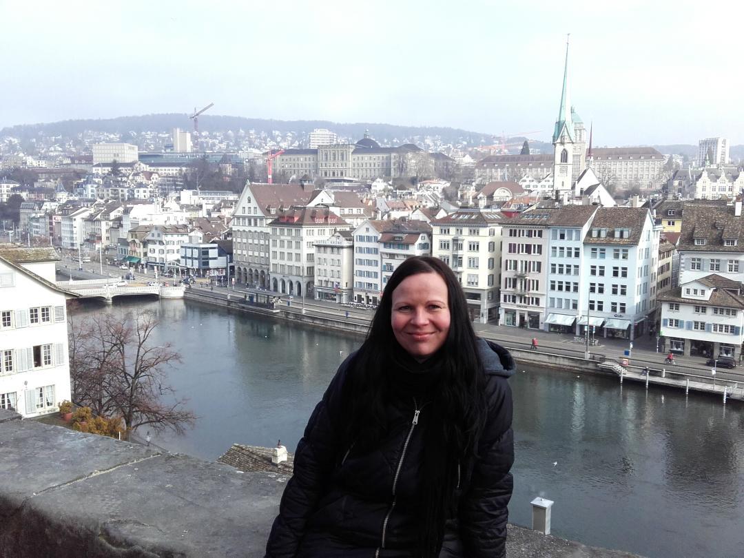 Blick auf Zürich vom Lindenhof