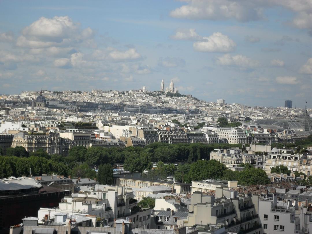 Blick über Paris (Montmartre)