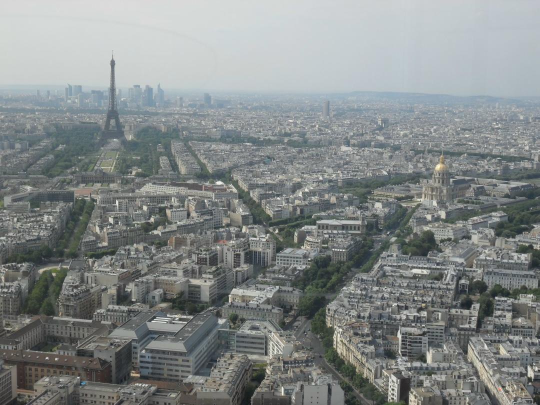 Blick über Paris vom Tour de Montparnasse