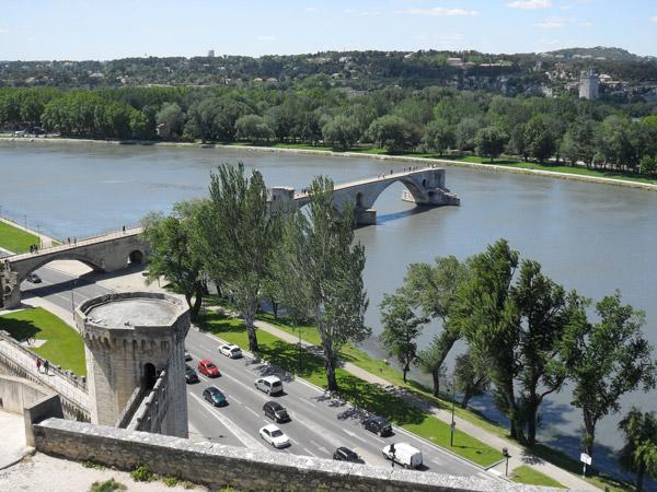 Avignon - Blick-auf-Pont-Saint-Bénezet
