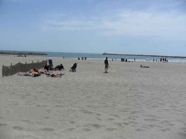 Strand von Saintes-Maries-de-la-Mer - Camargue