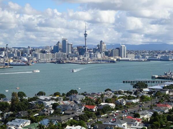 Blick auf Auckland von Mount Victoria - Devonport