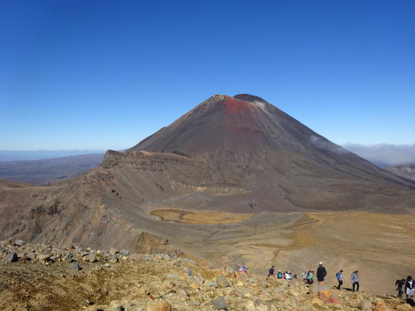 Blick auf Mount Ngauruhoe - Tongariro Alpine Crossing
