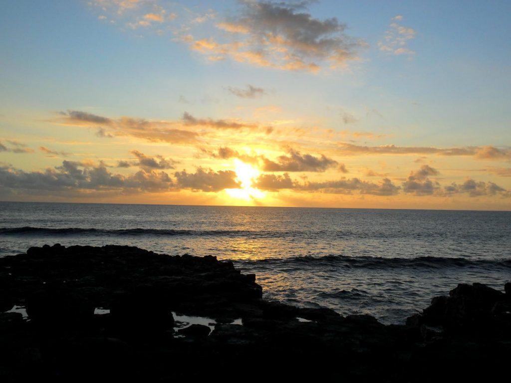 Sonnenuntergang St-Pierre auf der Insel Réunion