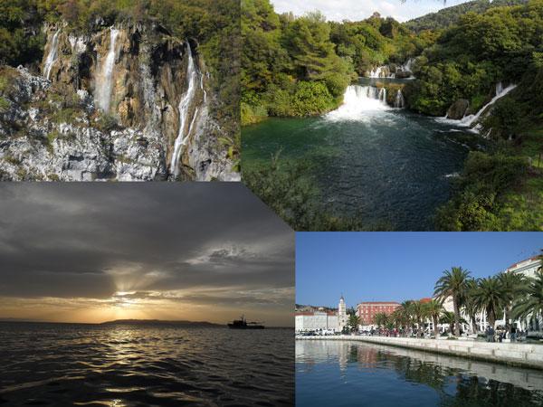 Plitvicer Seen-Naturpark Krka-Makarska-Split
