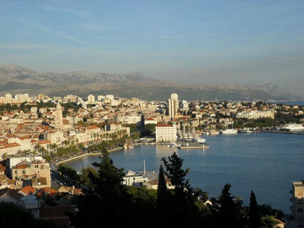 Blick vom Berg Marjan über Split