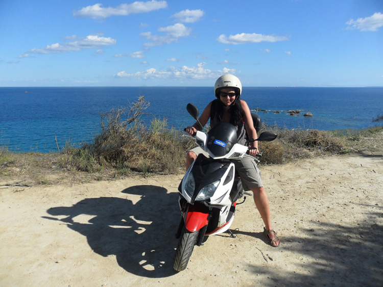 Roller fahren auf Zakynthos