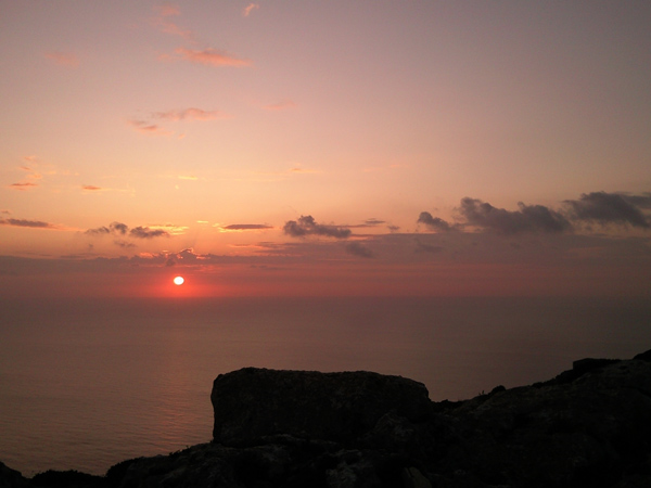 Sonnenuntergang Dingli Cliffs