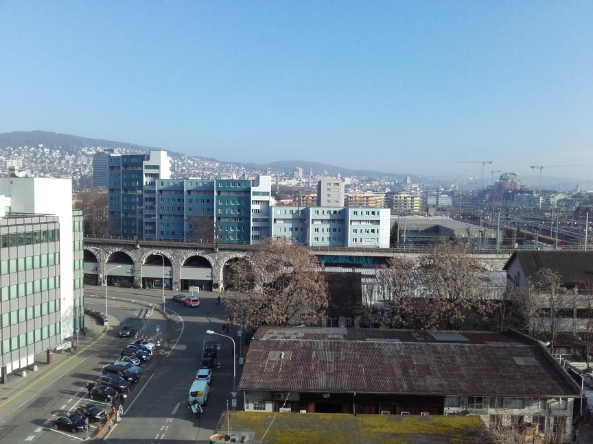 Blick auf Zürich mit Viadukt