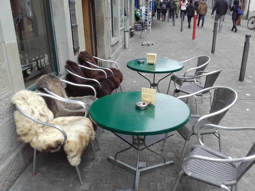 Kuschelige Sitzplätze