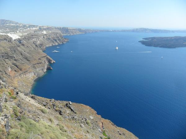 Ausblick beim Skaros Rock - Kraterrand von Santorini