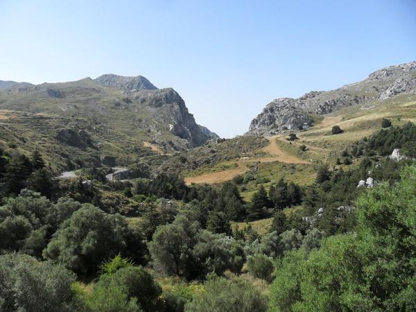 Berge Richtung Süden von Kreta