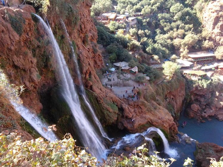 Ouzoud Wasserfälle von oben