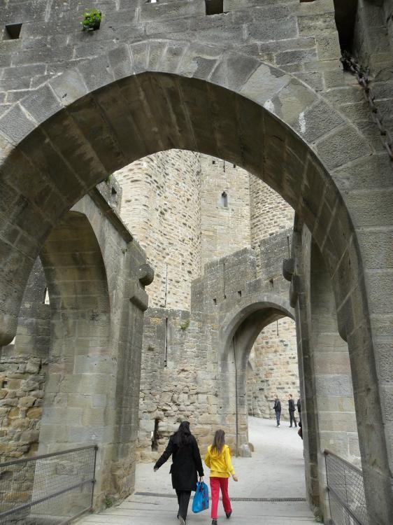 Eingang Festung Carcassonne