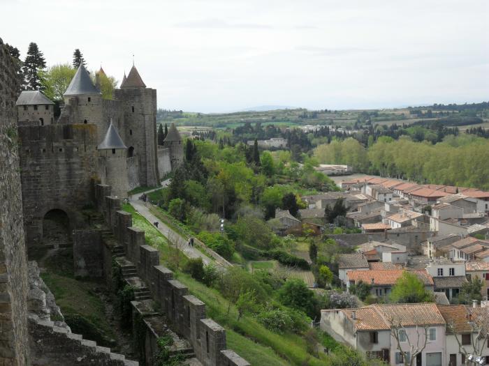 Blick von der Burg auf Carcassonne