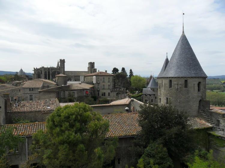 Blick auf die Festung Carcassonne