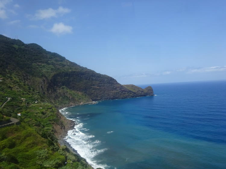 Küste im Norden von Madeira