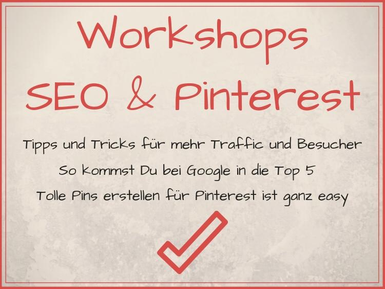 Workshops SEO & Pinterest