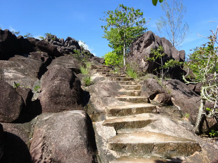 Mini Wanderung auf der Insel Curieuse