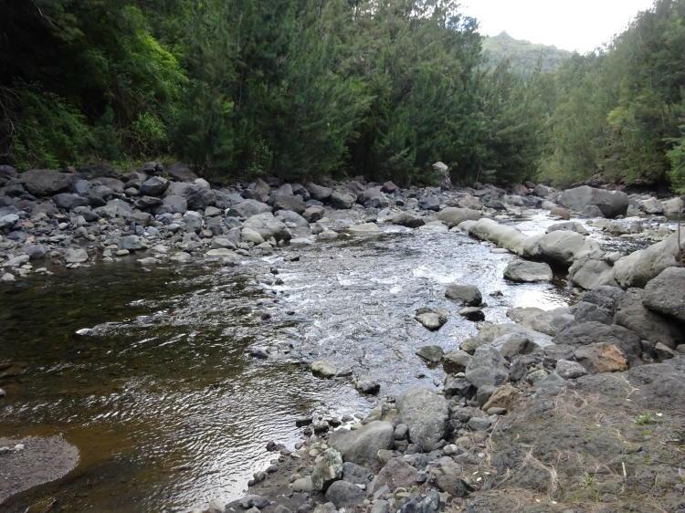 Erfolgreiche Flussdurchquerung - Trou Blanc