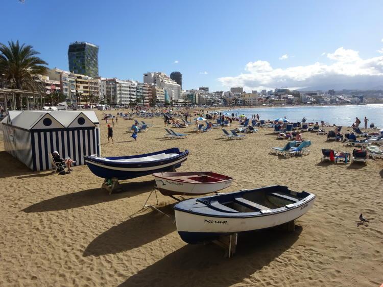 Strand in Las Palmas