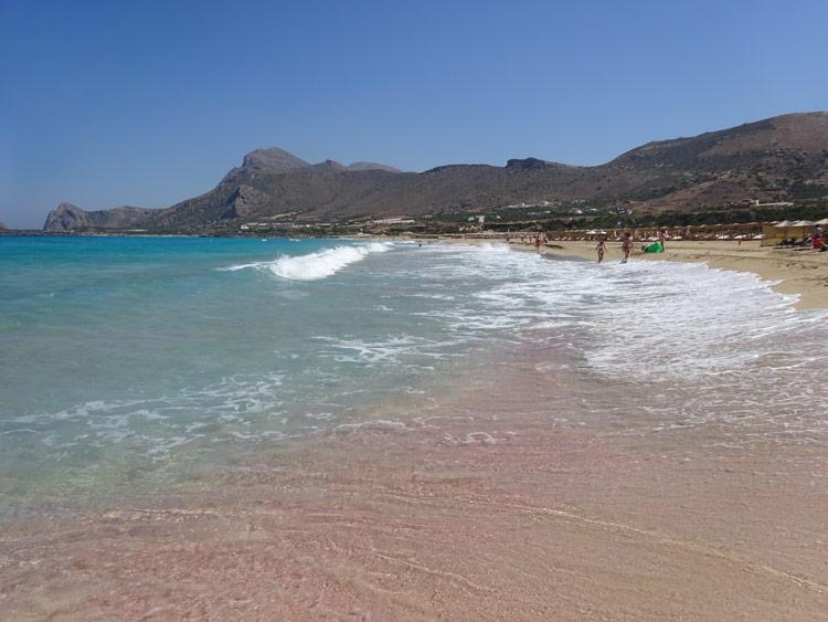 Falasarna pinker Strand