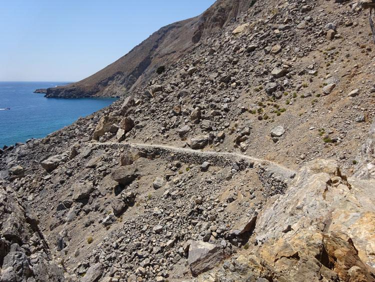 E4-Wanderweg Richtung Sweet Water Beach