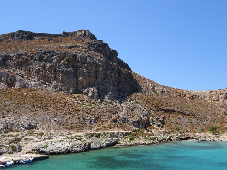 Insel Gramvousa mit Festung