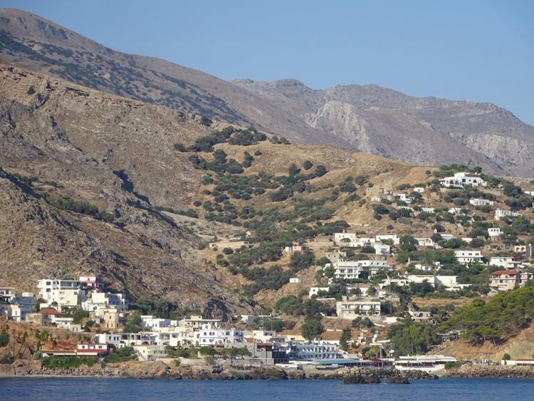 Blick auf Chora Sfakion vom Schiff
