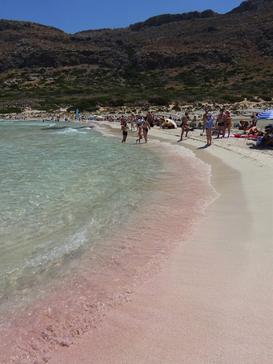 Balos - pinker Strand