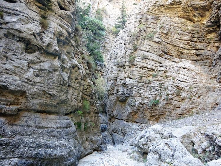 Felsen Imbros-Schlucht