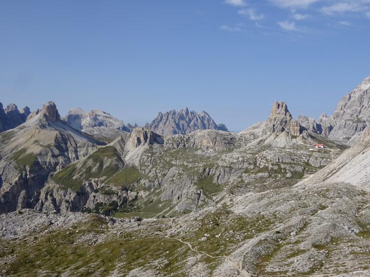 Blick Richtung Dreizinnenhütte