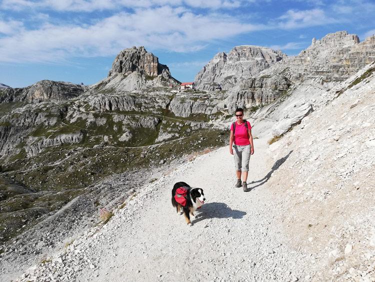 Weg Richtung Dreizinnenhütte