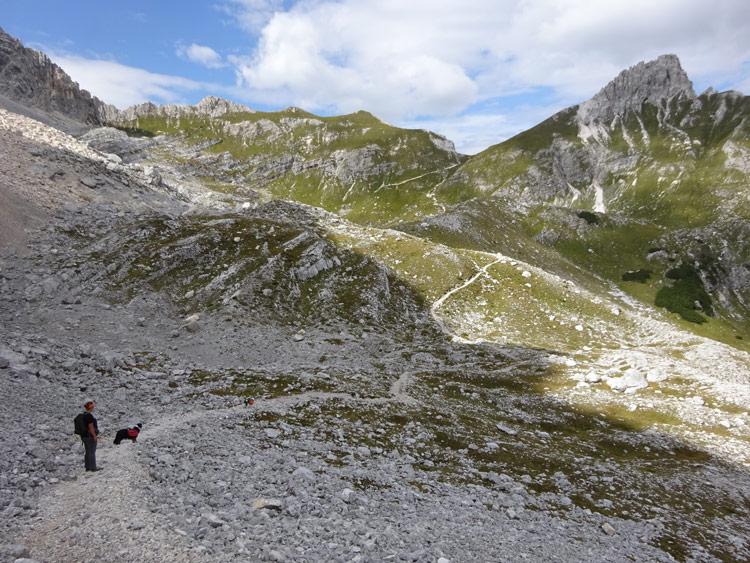 Weg Richtung Forcella Marcoira