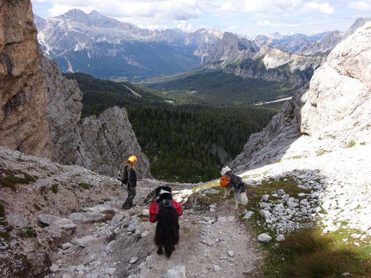 Abstieg zum Passo Tre Croci
