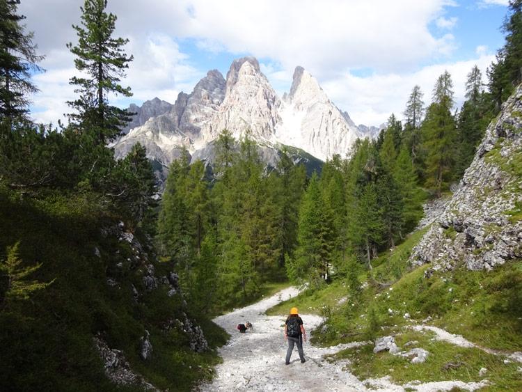 Weg 213 zum Passo Tre Croci