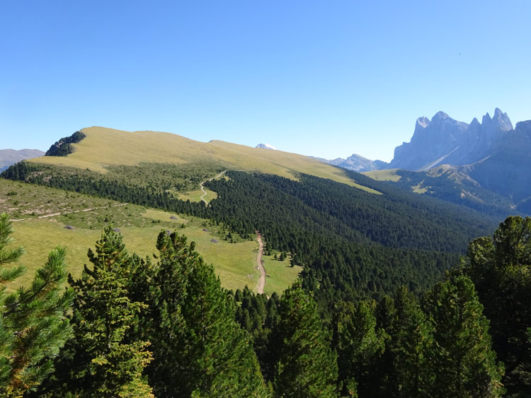 Panoramaweg von oben