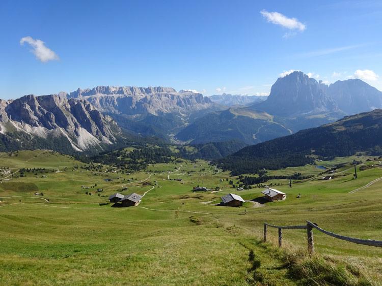 Ausblick auf die Berge der Dolomiten