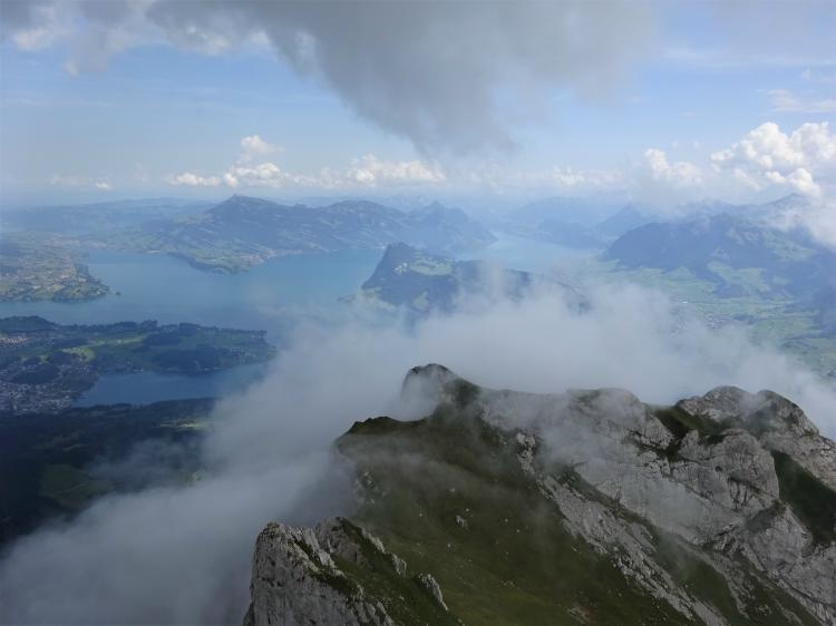 Blick vom Pilatus - Vierwaldstättersee